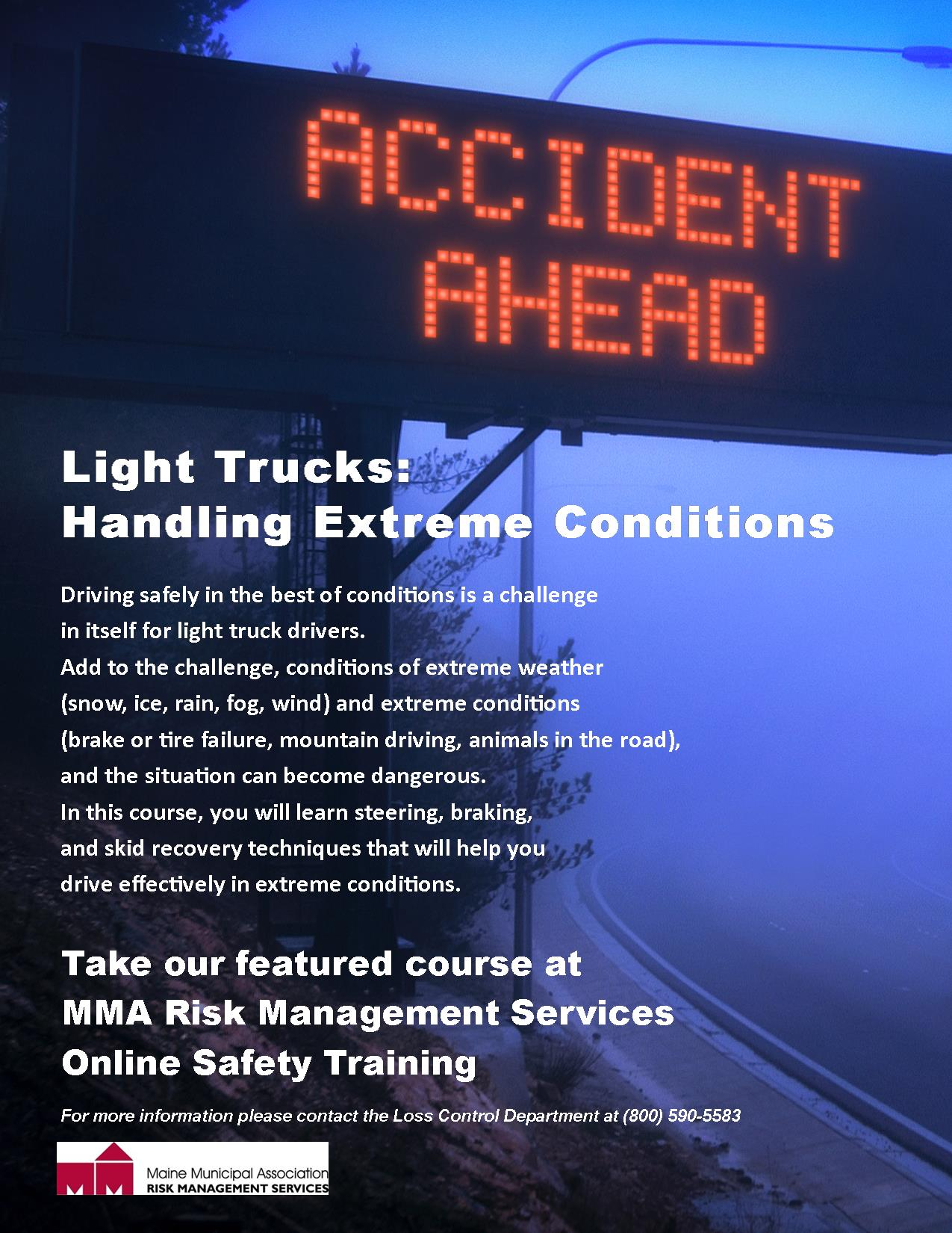 LIGHT TRUCKS-HANDLING EXTREME CONDITIONS-MAINE